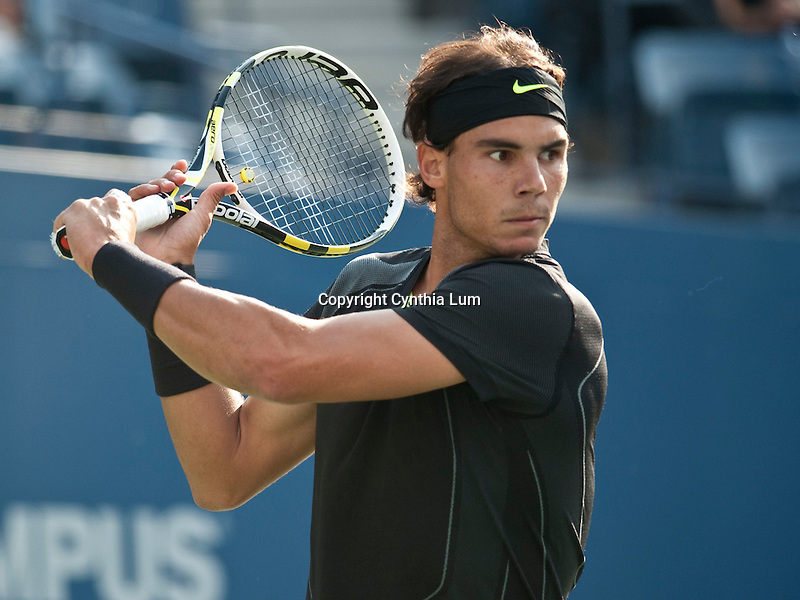 Sept.13, 2010.Rafael Nadal of Spain in action, defeating Novak Djokovic of Serbia, in the final of the US Open and claiming the 2010 US Open Men's Champion title at the USTA Billie Jean King Tennis Center, Flushing Meadow, NY._Cynthia Lum/Eclipse Sportswire.com.