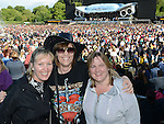 Sharon Scally, Majella Kennelly and Liz Rock pictured at the Bon Jovi concert at Slane Castle. Photo:Colin Bell/pressphotos.ie