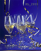 Interlitho, Alberto, STILL LIFES, photos, 4 champagne glasses(KL2935,#I#) Stilleben, naturaleza muerta