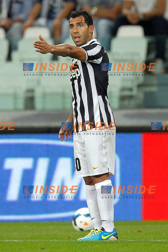 Carlos Tevez Juventus,<br /> Torino 31-08-2013<br /> Juventus Stadium <br /> Football Calcio 2013/2014 Serie A <br /> Juventus - Lazio <br /> Foto Marco Bertorello Insidefoto