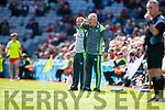 Peter Keane manager Kerry Kerry v Derry in the All-Ireland Minor Footballl Final in Croke Park on Sunday.