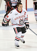 Mike McLaughlin (Northeastern - 18), captain of the Huskies, is the sole official senior on the roster.  Two other members of his class took medical redshirts in previous seasons. - The visiting St. Francis Xavier University X-Men defeated the Northeastern University Huskies 8-5 on Sunday, October 2, 2011, at Matthews Arena in Boston, Massachusetts.