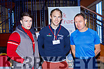 Jamie Quirke, Eamon Hickson Guest Speaker and PJ Fitzgerald Waterville at the Balance expo in the INEC on Sunday