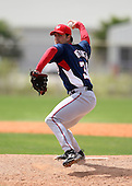 March 22, 2010:  Pitcher Dean Weaver of the Washington Nationals organization during Spring Training at the Carl Barger Training Complex in Melbourne, FL.  Photo By Mike Janes/Four Seam Images