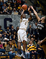 Afure Jemerigbe of California shoots the ball during the game against Stanford at Haas Pavilion in Berkeley, California on January 8th, 2013.  Stanford defeated California, 62-53.