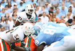 06 October 2007: Miami's Carlos Armour. The University of North Carolina Tar Heels defeated the University of Miami Hurricanes 33-27 at Kenan Stadium in Chapel Hill, North Carolina in an Atlantic Coast Conference NCAA College Football Division I game.