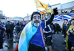 Scotland fan wears a Maradona mask in  Trafalgar Square before the FIFA World Cup Qualifying Group F match at Wembley Stadium, London. Picture date: November 11th, 2016. Pic David Klein/Sportimage
