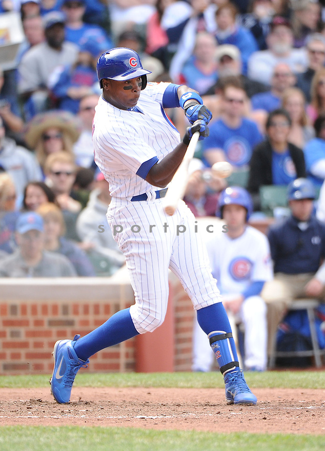Chicago Cubs Alfonso Soriano (12) during a game against the Cincinnati Reds on May 5, 2013 at Wrigley Field in Chicago, IL. The Reds beat the Cubs 7-4.