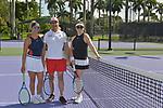WESTON, FL - DECEMBER 08: Ninoska Malik, Sajid Malik and Elizabeth Signore playing at Midtown Athletic Club Weston on December 08, 2018 in Weston, Florida. ( Photo by Johnny Louis / jlnphotography.com )