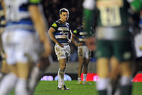 George Ford of Bath Rugby looks on during a break in play. Aviva Premiership match, between Leicester Tigers and Bath Rugby on November 29, 2015 at Welford Road in Leicester, England. Photo by: Patrick Khachfe / Onside Images