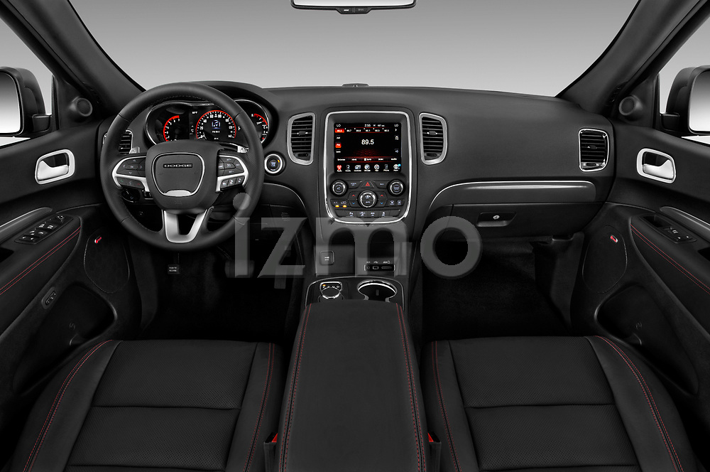 Stock photo of straight dashboard view of 2015 Dodge Durango R/T-RWD 5 Door SUV Dashboard