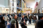 Yorkdale Shopping Centre crowded with people on Boxing Day. Toronto Ontario Canada 2008.