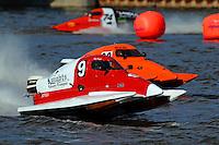 Mike Beegle (#9), Gary Barber (#20) & Kurt McCourtie (#74) SST-45 class.Bay City River Roar, Bay City,Michigan USA.26-2821 June, 2009..©F. Peirce Williams 2009 USA.F.Peirce Williams.photography.ref: RAW (.NEF) File Available