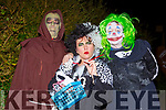 Keith Darcy, Deidre and Liam Bell at Knocknagoshel Halloween festival on Sunday night