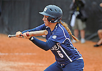 Florida International University outfielder/right handed pitcher Shelby Graves (6) plays against the University of Louisville which won the game 4-2 on February 11, 2012 at Miami, Florida. .