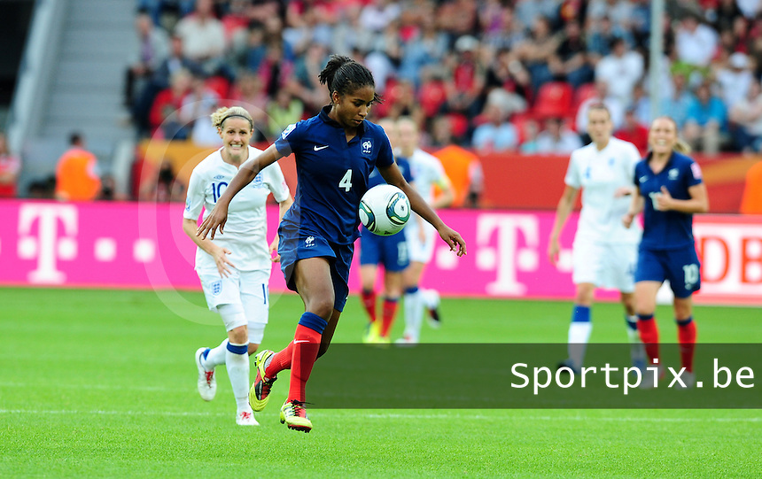 Fifa Women's World Cup Germany 2011 : England - France - at Leverkusen : Laura Georges.foto DAVID CATRY / Vrouwenteam.be