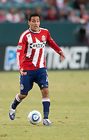 CARSON, CA – SEPTEMBER 19: Chivas USA midfielder Jesus Padilla (10) during a soccer match at Home Depot Center, September 19, 2010 in Carson California. Final score Chivas USA 0, Kansas City Wizards 2.