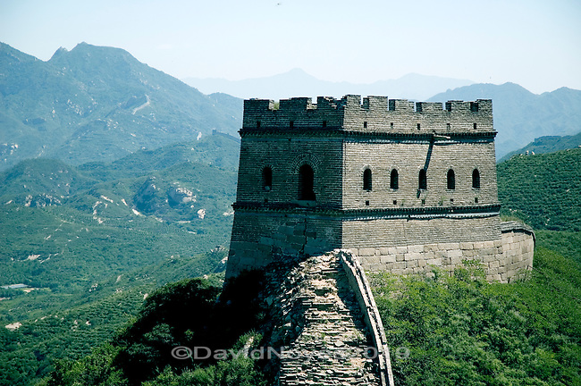 The Great Wall of China is not a continuous structure, but a patchwork of separate sections built in a nearly continuous 1,800-year construction project. Many of the more accessible sections of the Wall near Beijing were first built during the Ming dynasty (1368 -1644). Some areas of unrestored Wild Wall are away from the crowds and are open to tourists..