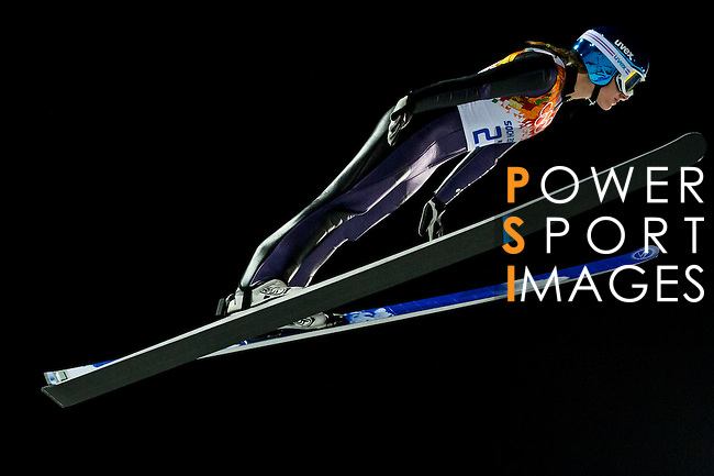 Katharina Althaus of Germany compete during the Ski Jumping Ladies' Normal Hill Individual as part of the 2014 Sochi Olympic Winter Games at RusSki Gorki Jumping Center on February 11, 2014 in Sochi, Russia. Photo by Victor Fraile / Power Sport Images