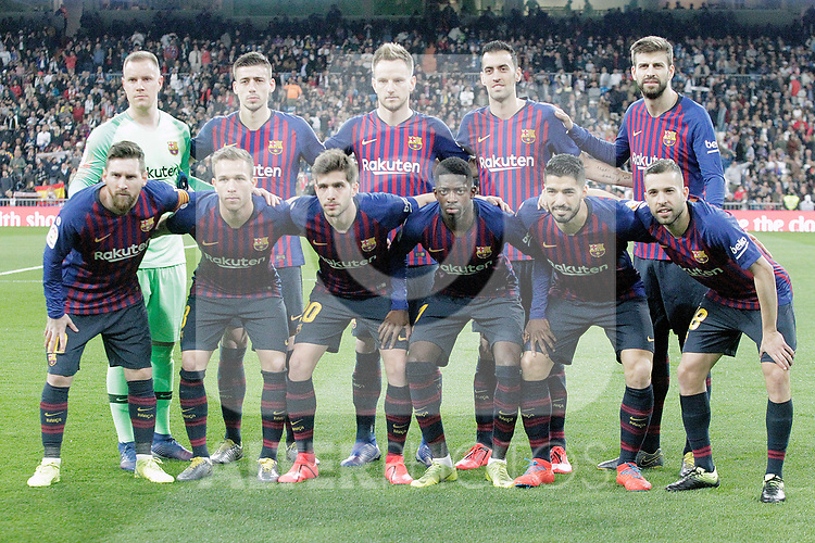FC Barcelona's team during La Liga match. March 02,2019. (ALTERPHOTOS/Alconada)