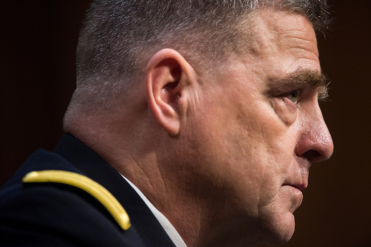 UNITED STATES - JULY 21: Army Gen. Mark Milley testifies during the Senate Armed Services Committee hearing on his nomination to be Army chief of staff on Tuesday, July 21, 2015. (Photo By Bill Clark/CQ Roll Call)