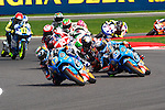 hertz british grand prix during the world championship 2014.<br /> Silverstone, england<br /> August 31, 2014. <br /> Race Moto3<br /> 42-alex marquez<br /> 12-alex rins<br /> 33-enea bastianini<br /> PHOTOCALL3000/ RME