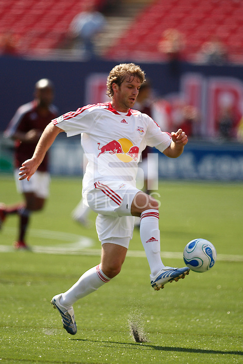 NY Red Bulls defender (60) Jeff Parke at Giants Stadium, East Rutherford, NJ, on May 13, 2007. The Rapids defeated the Red Bulls 1-0.