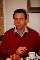 SAO PAULO, 30 DE JULHO DE 2012. CAFÉ DA MANHÃ DO LULA COM CANDIDATOS. O candidato do PT à prefeitura de São Bernardo do Campo, Luis Marinho, durante café da manhã do ex presidente Lula com os candidatos do PT a prefeitura. FOTO: ADRIANA SPACA - BRAZIL PHOTO PRESS