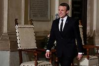 Emmanuel Macron<br /> Roma 10/01/2018. 4° Vertice dei paesi del sud dell'Unione Europea<br /> Rome January 10th 2018. 4th Summit of the southern EU Countries<br /> Foto Samantha Zucchi Insidefoto