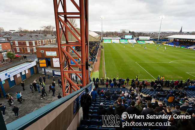 Some of the 5,011 fans start to drift away before full time. Stockport County v Barnet, 07032020. Edgeley Park, National League. Photo by Paul Thompson.