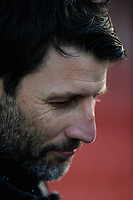 Lincoln City manager Danny Cowley during the pre-match warm-up<br /> <br /> Photographer Chris Vaughan/CameraSport<br /> <br /> The EFL Sky Bet League Two - Lincoln City v Port Vale - Tuesday 1st January 2019 - Sincil Bank - Lincoln<br /> <br /> World Copyright &copy; 2019 CameraSport. All rights reserved. 43 Linden Ave. Countesthorpe. Leicester. England. LE8 5PG - Tel: +44 (0) 116 277 4147 - admin@camerasport.com - www.camerasport.com