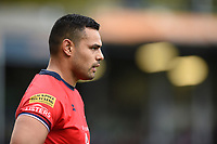 Ben Te'o of Worcester Warriors looks on during a break in play. Aviva Premiership match, between Bath Rugby and Worcester Warriors on October 7, 2017 at the Recreation Ground in Bath, England. Photo by: Patrick Khachfe / Onside Images