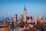 Mexico, Mexico City, Torre Latinoamericana Building, Sunrise