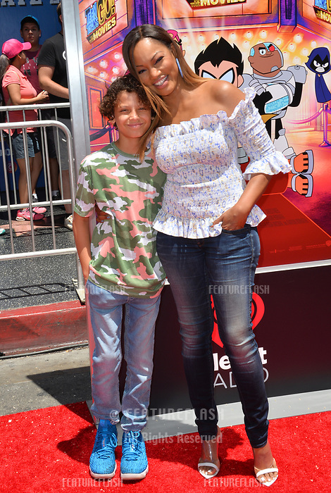 Garcelle Beauvais &amp; Son at the premiere for &quot;Teen Titans Go! to the Movies&quot; at the TCL Chinese Theatre, Los Angeles, USA 22 July 2018<br /> Picture: Paul Smith/Featureflash/SilverHub 0208 004 5359 sales@silverhubmedia.com