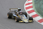 22.04.2012 Barcelona, Spain. GP Masters. Pictures show driver Andrew Beaumont GBR with Lotus 76/1 at Circuit Catalunya