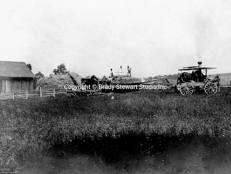 Hopedale Ohio:  While taking progress photographs for the Wabash railroad, Brady Stewart stopped by a local farm to capture this photo - 1903