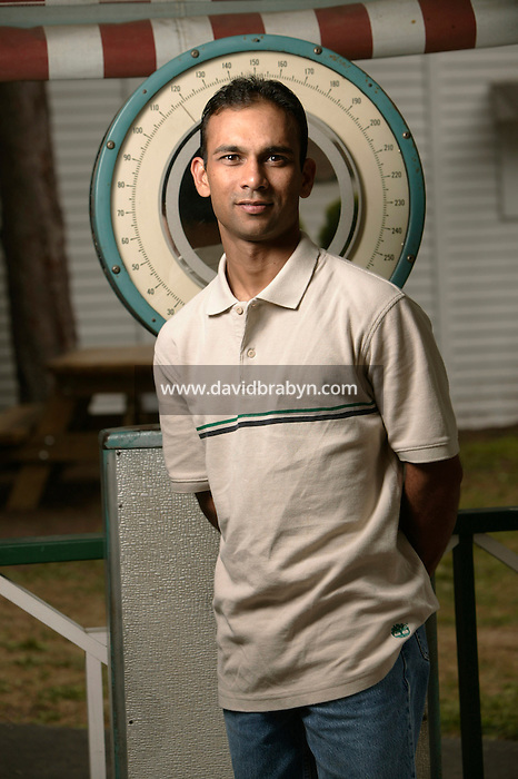 Jockey Shaun Bridgmohan poses for the photographer at the race track in Saratoga Springs, NY, USA, 14 August 2006.
