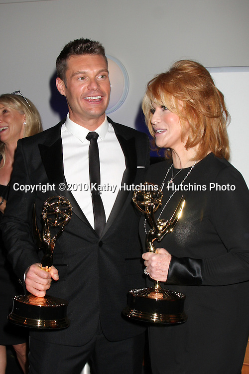 LOS ANGELES - AUG 21:  Ryan Seacrest & Ann-Margaret in the Press Room of the 2010 Creative Primetime Emmy Awards at Nokia Theater at LA Live on August 21, 2010 in Los Angeles, CA