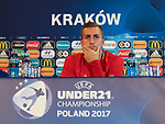 Spain's Gerard Deulofeu during his press conference and training session at the Stadion Cracovia in Krakow. Picture date 29th June 2017. Picture credit should read: David Klein/Sportimage