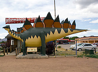 Chamber of Commerce dinosaur in Cañon City, Colorado.