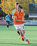 BLOEMENDAAL  - Merijn Bos, (Bl'daal) , competitiewedstrijd junioren  landelijk  Bloemendaal JA1-Nijmegen JA1 (2-2) . COPYRIGHT KOEN SUYK