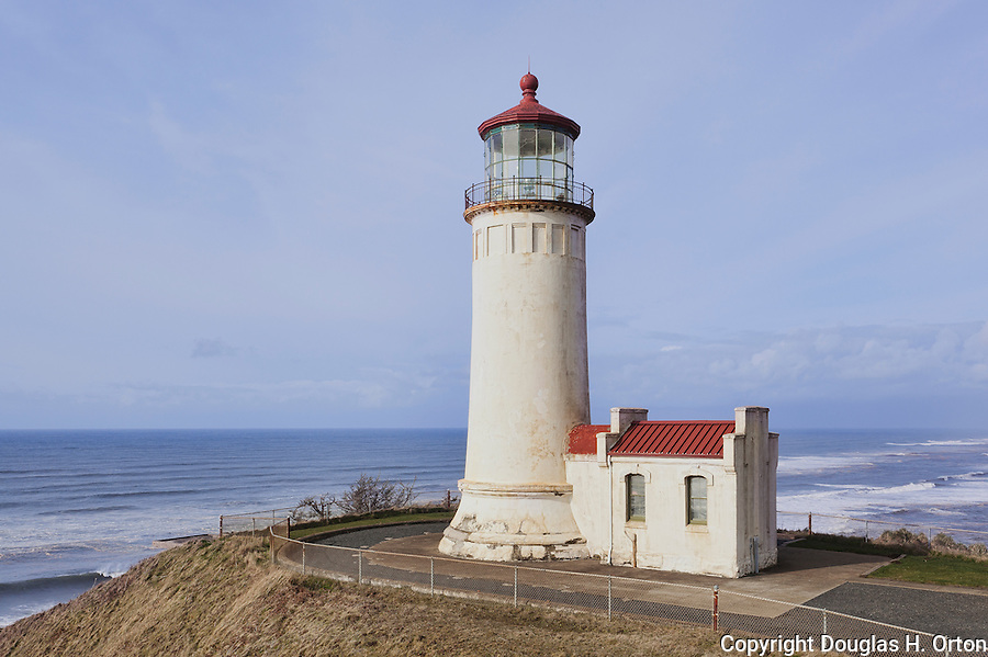 North Head Lighthouse, Washington State.  Cape Disappointment.   Long Beach Peninsula, Washington State.  USA