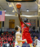 Stony Brook defeats UAlbany  69-60 in the America East Conference tournament quaterfinals at the  SEFCU Arena, Mar. 3, 2018.  Junior Saintel (#11).
