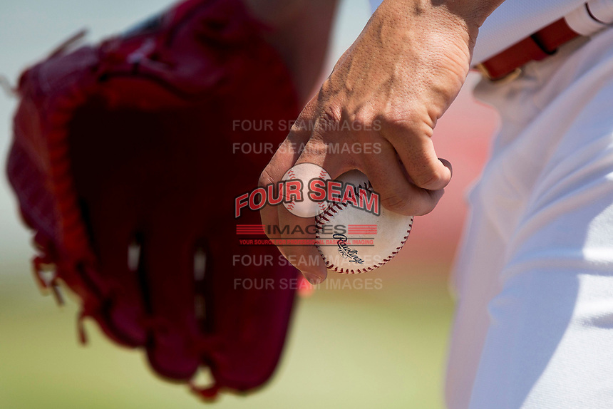 Jaime Garcia (39) of the St. Louis Cardinals prepares to throw a ball prior to a rehab game with the Springfield Cardinals against the Tulsa Drillers at Hammons Field on May 4, 2014 in Springfield, Missouri. (David Welker/Four Seam Images)