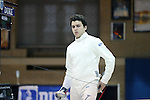 11 February 2017: Duke's Connor Ghazaleh prepares for his Epee match. The Duke University Blue Devils hosted the Massachusetts Institute of Technology Engineers at Card Gym in Durham, North Carolina in a 2017 College Men's Fencing match. Duke won the dual match 19-8 overall, 7-2 Foil, 6-3 Epee, and 6-3 Saber.