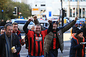 4th November 2017, St James Park, Newcastle upon Tyne, England; EPL Premier League football, Newcastle United Bournemouth; AFC Bournemouth fans before the game