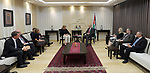 Palestinian Prime Minister Rami Hamdallah meets with delegation from the US agency for international development (USAID), in the West Bank city of Ramallah on June 08, 2017. Photo by Prime Minister Office