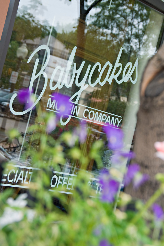 Babycakes Muffin Company in downtown Marquette Michigan.