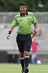 07 September 2014: Assistant referee Gustavo Solorio. The Duke University Blue Devils hosted the Penn State University Nittany Lions at Koskinen Stadium in Durham, North Carolina in a 2014 NCAA Division I Women's Soccer match. PSU won the game 4-3.