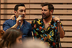 Argentine singer Ariel Ardit (L) and Spanish singer Miguel Poveda during the press conference and rehearsal of Festival Unicos. September 24, 2019. (ALTERPHOTOS/Johana Hernandez)